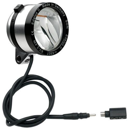 Dynamové přední světlo SON kabel 60 cm a koax. adaptérem