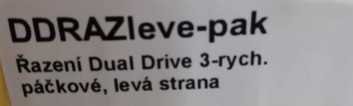 Řazení Dual Drive 3-rych. páčkové, levá strana