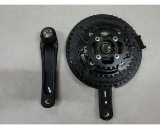Kliky Shimano FC-T4010, 48x36x26, 170mm, na Octalink, z testovacího kola, najeto cca 500km