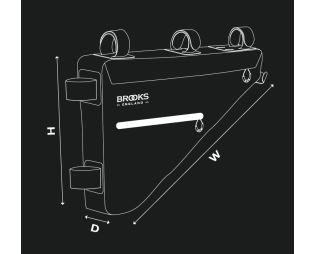 BROOKS Scape Full Frame Bag - Mud Green