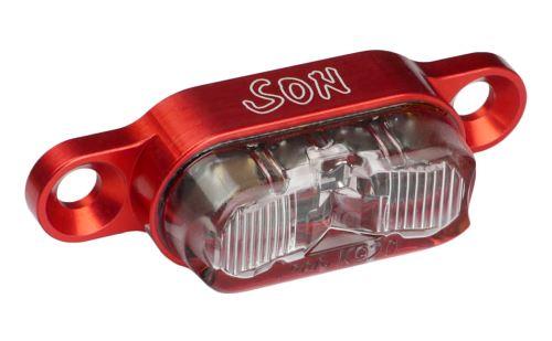 Dynamové zadní světlo SON s upevněním na nosič