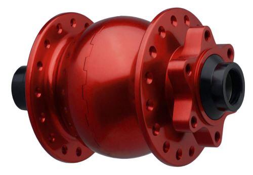 Dynamo v předním náboji na pevnou osu 15mm o šířce 110mm a diskové brzdy 6 děr