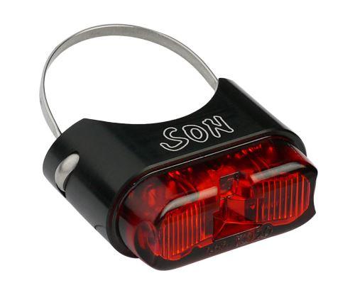 Dynamové zadní světlo SON s upevněním na sedlovku