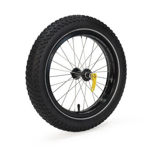 Větší kolečko pro vozík BURLEY Coho XC nejen do sněhu a písku.